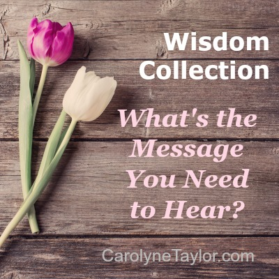 Wisdom Collection | What's the Message You Need to Hear?