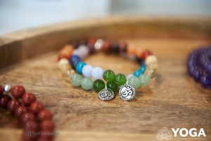 Mala bracelets are just one of the exhibitors at the Victoria Yoga Conference Wellness Market