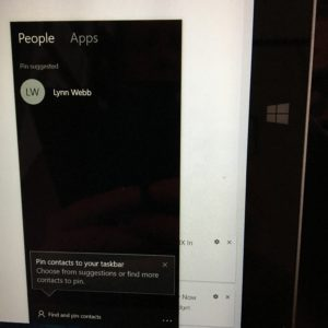 screen shot of contact list