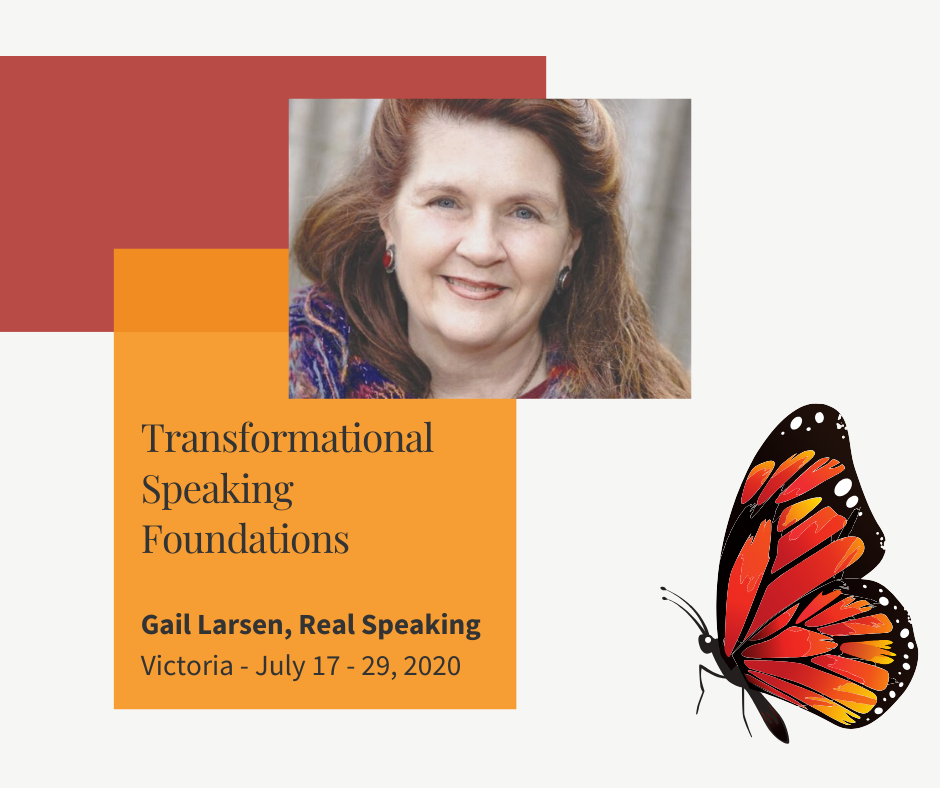 Transformational Speaking with Gail Larsen in Victoria BC